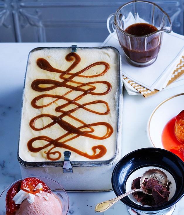 Mascarpone gelato with espresso ripple