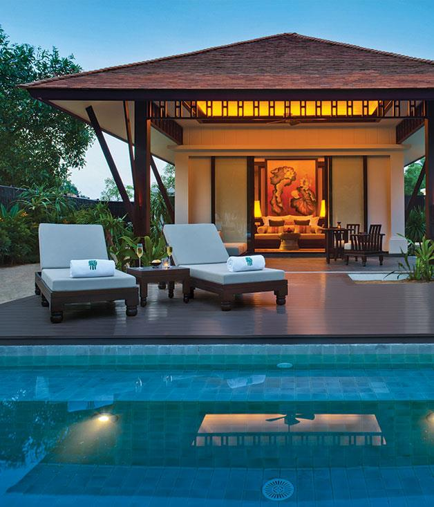 "**Banyan Tree Lang Co, Vietnam** Eighteen-hole golf course? Yep. Ocean views? Tick. Superb spa? Check. [Banyan Tree's latest property](http://banyantree.com/en/lang_co/ ""Banyan Tree Lang Co"") along the coast of Lang Co, Vietnam, is a sparkling new addition to their resort portfolio."