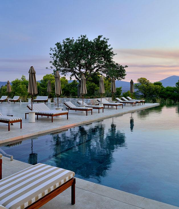"""**Amanzo'e, Greece** With its breathtaking Acropolis-like structure, expansive ocean views and pared-back Mediterranean design, this [Hellenic gem](http://www.amanresorts.com """"Amanzo'e"""") on the Peloponnese is a winner through and through."""