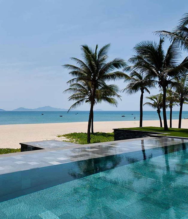 """**Nam Hai, Vietnam** Smack-bang on the sands of China Beach and just a stone's throw away from the UNESCO World Heritage-listed port town of Hoi An, the [Nam Hai](http://www.thenamhai.com """"Nam Hai"""") offers Vietnamese luxury at its best. Stand-alone beachfront villas, lush gardens, glistening swimming pools and a spa fit for royalty are just the beginning."""