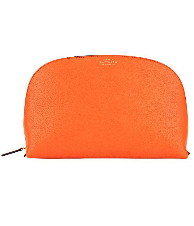 """**Smythson """"Chameleon"""" washbag** Who said washbags had to be boring? Cart your toiletries in style with [Smythson](http://www.smythson.com """"Smythson"""")'s eye-catching """"Chameleon"""" number. $357."""