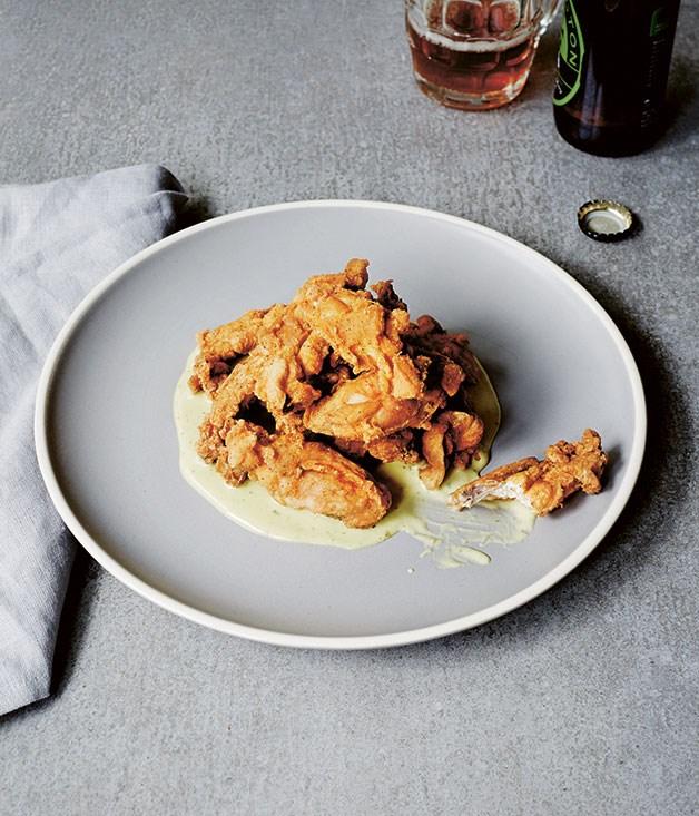 Southern fried chicken ribs & jalapeño mayo