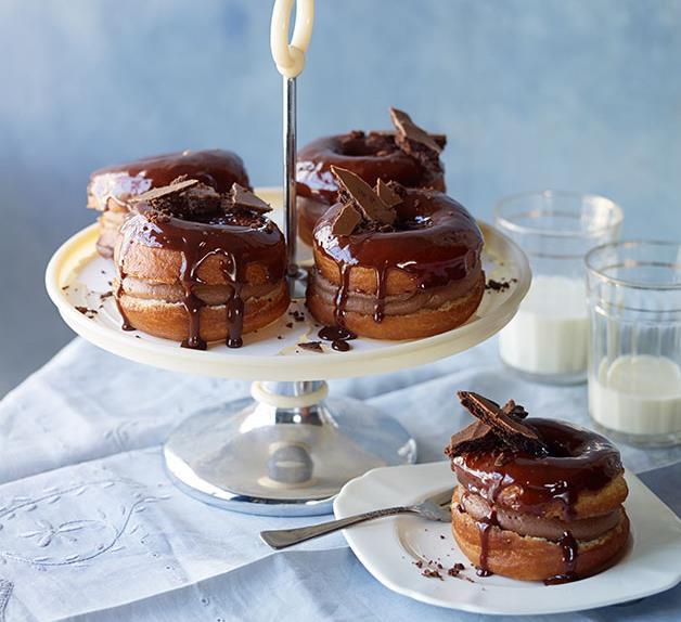 Chocolate-cream doughnuts