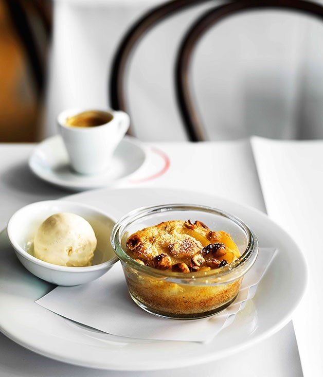 **Pear and hazelnut clafoutis**