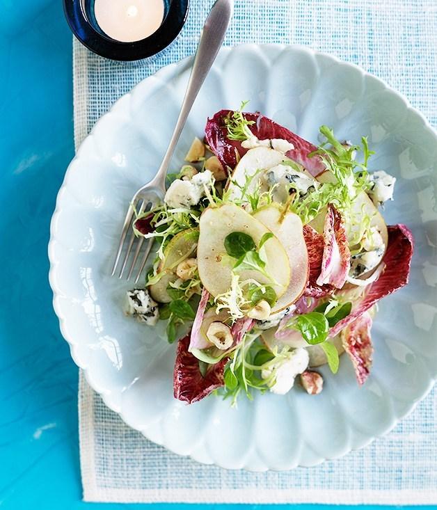 **Witlof, pear, Roquefort and hazelnut salad**