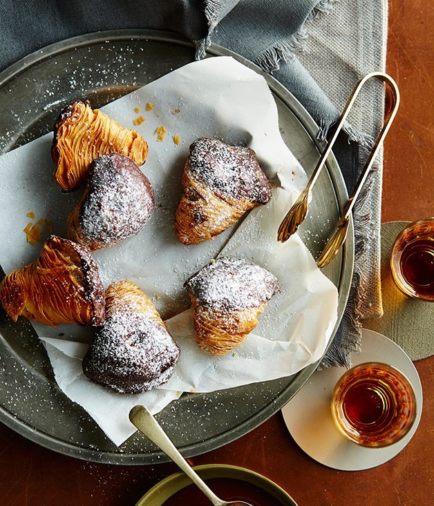 "**[Sfogliatelle](https://www.gourmettraveller.com.au/recipes/browse-all/sfogliatelle-14208|target=""_blank"")**"