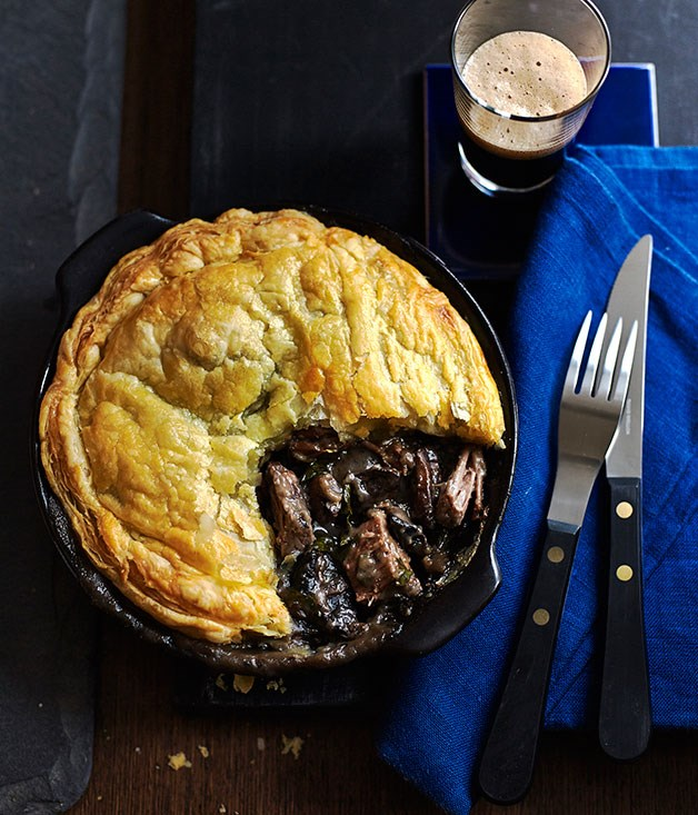 Beef brisket and mushroom pot pies