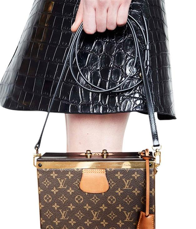 **Luggage check** Louis Vuitton has shrunk its classic monogrammed trunks - or malles - into pint-sized versions, complete with removable covers.
