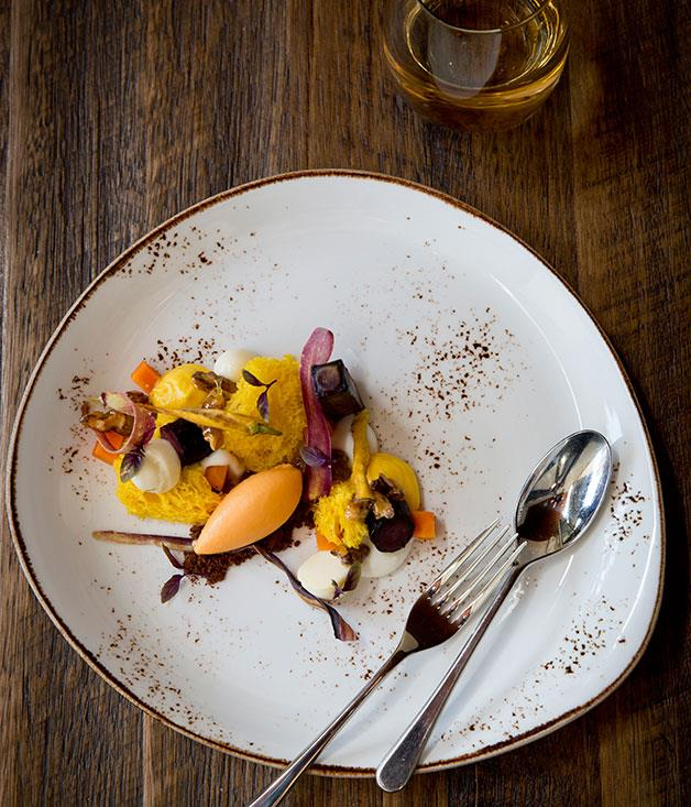 **Vegie bending** Carrots, parsnip, and artichokes don't immediately shout dessert but they've been popping up at the tail end of the meal with greater frequency recently, following hot on the heels of that noughties favourite, beetroot.