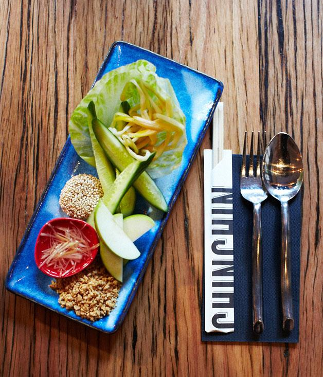 """**The rebirth of cooling** A lifesaver for many a diner who overestimated their chilli tolerance, the """"cooling plate"""" at Melbourne's Chin Chin contains the soothing likes of cucumber, apple, iceberg, ginger and palm sugar. But, yes, they also do a chilli plate."""