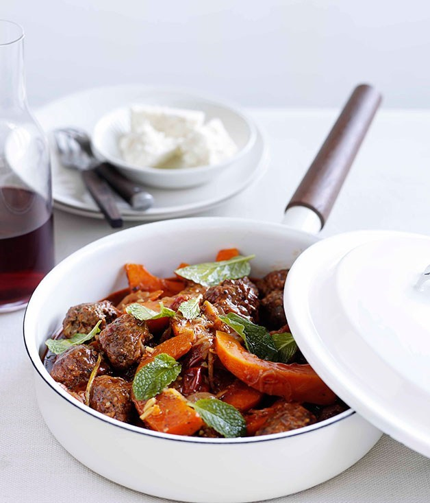 **Lamb keftethes with pumpkin and feta**