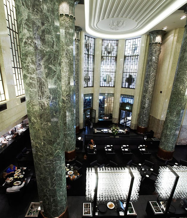 **Rockpool Bar & Grill, Sydney** To call [Bar & Grill](http://www.rockpool.com/sydney/bar-and-grill/) a steakhouse would be an undersell. If the Art Deco grandeur of the dining room or the precise service of the Mad Men-esque wait-staff don't clue you in, the poster-sized menu will. You'll want to invest some dollars in the big-ticket aged steaks (wagyu, grain-fed, grass-fed), and in something storied from the 3,200-odd-bottle wine list.