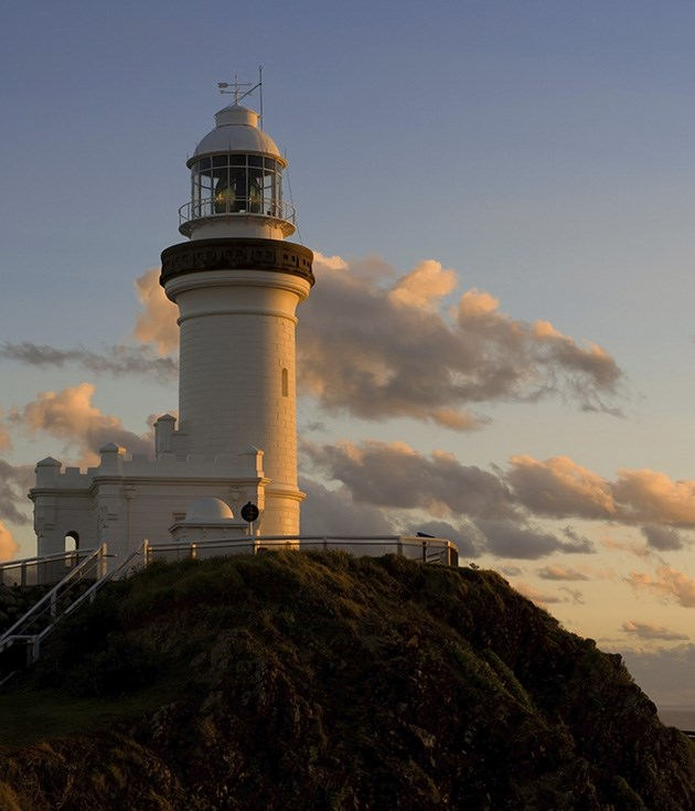 **Cape Byron Lighthouse** It's a short hop from Clarke's Beach to the beginning of the Headland Walk via Wategos Beach. Climb the steps to the Cape Byron lighthouse for almost guaranteed sightings of dolphins and whales (during migration season).