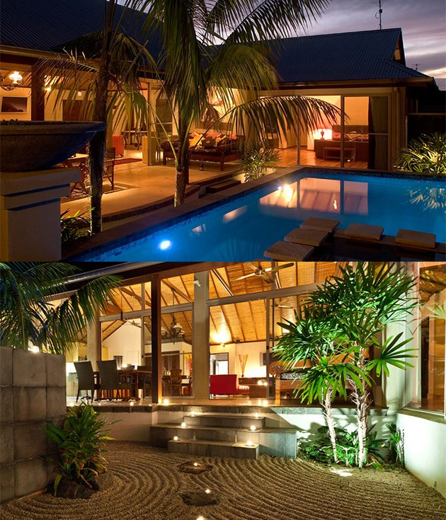 **The Villas of Byron** Discreetly tucked away in the centre of town is the Balinese-style retreat [The Villas of Byron](http://www.thevillasofbyron.com.au/index.html), a set of six high-walled luxury villas designed with relaxation and rejuvenation in mind. Step through the ornately carved double wooden doors, and past the standing Buddha, into your personal hideaway surrounded by landscaped tropical gardens with outdoor rain showers and a pebble rake to create your own Zen moments.