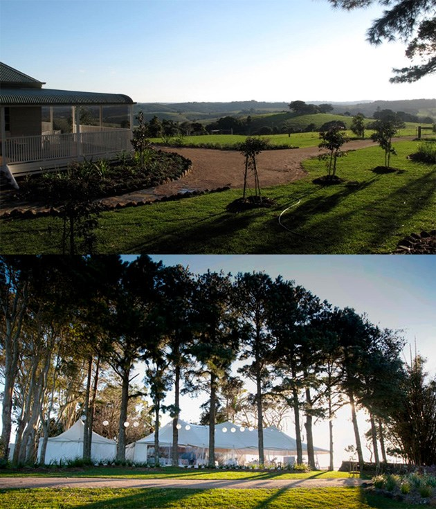 **Byron View Farm** [Byron View Farm](http://byronviewfarm.com/) commands some of the hinterland's very best views with simultaneous vistas of the Byron Bay lighthouse, Lennox Head, Mount Warning and the Gold Coast in the distance.