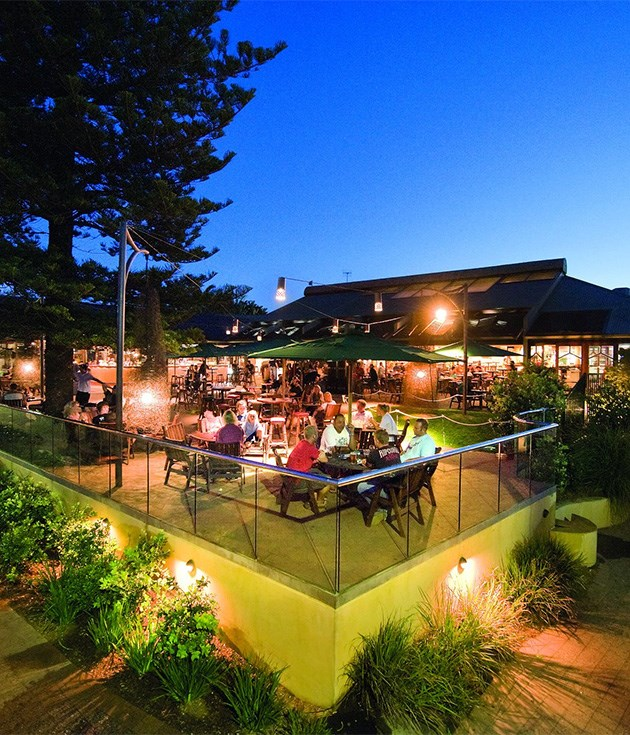 **Beach Hotel** Thankfully little has changed at the [Beach Hotel](http://beachhotel.com.au/) since changing hands - the surf movies are still screening and the original _Crocodile Dundee_ hat still adorns the bar. A new dining menu highlighting local New South Wales and Queensland produce, and of course the view, make it worth revisiting this old favourite.
