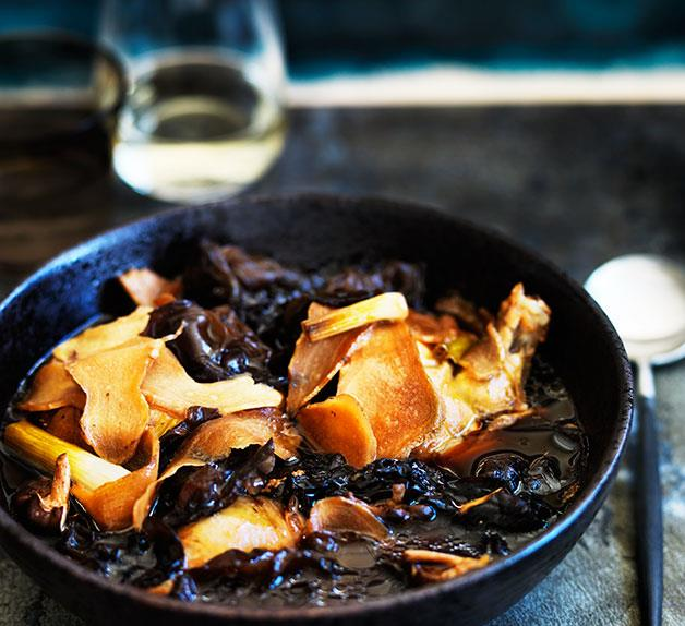 Chicken and ginger hotpot