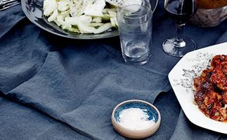 Fennel salad with salted ricotta