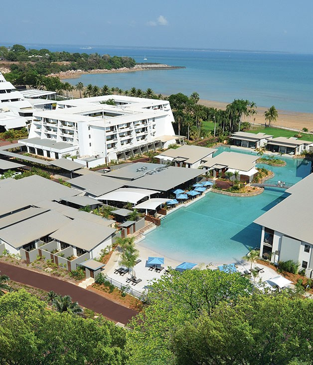 "**Best Hotel Pool** **Skycity Darwin   **Trust Australia's steamiest capital to understand what it takes to create a fabulous hotel pool. The Skycity Darwin lagoon serves up three million litres of liquid refreshment with a 30-metre beach of white Queensland sand studded with sunbeds, and a swim-up bar. There's direct access to an all-day café and an on-site spa. And the smart Lagoon rooms with their sun terraces open directly to the pool. No crocs, jellyfish, or other Top End terrors in sight. [skycitydarwin.com.au](http://www.skycitydarwin.com.au ""Skycity"")"