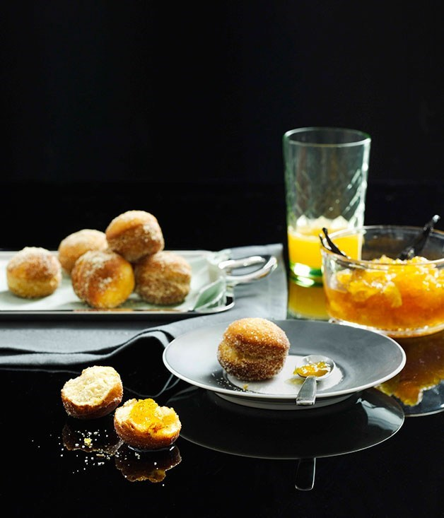 **Fennel bomboloni with orange jam**