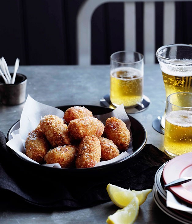 **Snapper and red pepper croquettes**