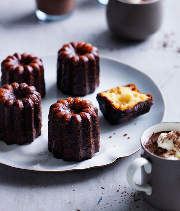 Canelés with spiced hot chocolate