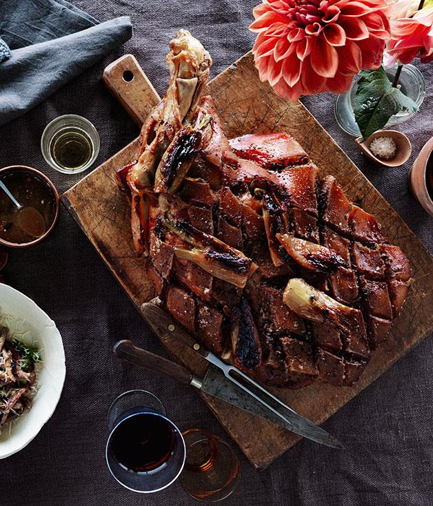 "**[Slow-roasted pork shoulder with fennel](http://www.gourmettraveller.com.au/recipes/chefs-recipes/slow-roasted-pork-shoulder-with-fennel-8064|target=""_blank"")**"