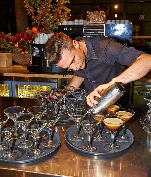 **** Nespresso Espresso Leggero Martinis in the making.