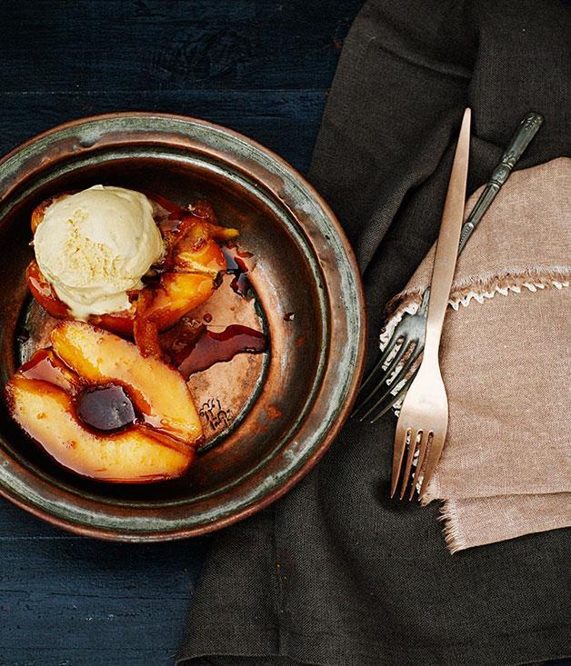 "**[Orange muscat roast quince with macadamia ice-cream](https://www.gourmettraveller.com.au/recipes/browse-all/orange-muscat-roast-quince-with-macadamia-ice-cream-11982|target=""_blank""|rel=""nofollow"")**"