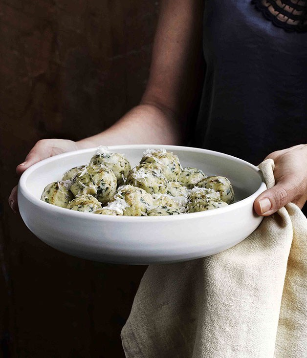 **Alto Adige-style spinach and bread dumplings**