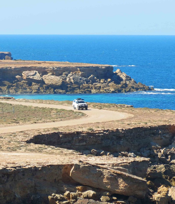 "**Adelaide: Yorke Peninsula** Flanked by the calm waters of Gulf St Vincent to the east and Spencer Gulf to the west, almost every road on the boot-shaped [Yorke Peninsula](http://www.southaustralia.com/regions/yorke-peninsula.aspx), just a couple of hours from Adelaide, is a scenic one. The best ""sea-forever"" views are those on the South Coast Road running along the foot of the peninsula, between Innes National Park and Edithburgh."