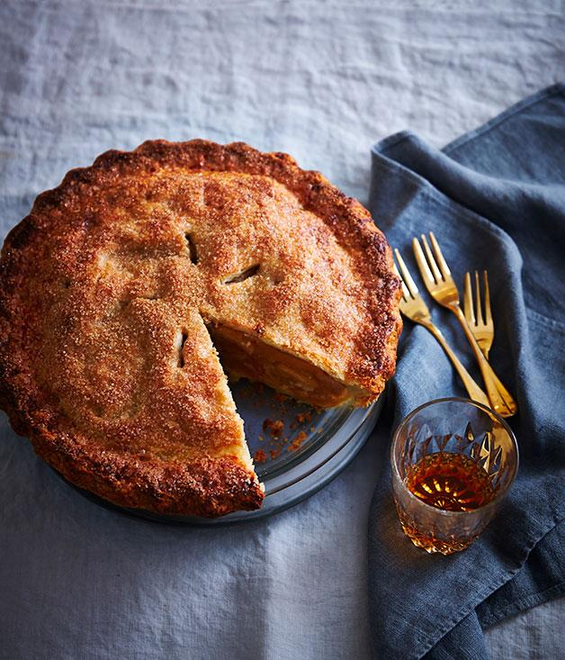 "**[Apple pie](https://www.gourmettraveller.com.au/recipes/browse-all/apple-pie-14211|target=""_blank"")**"