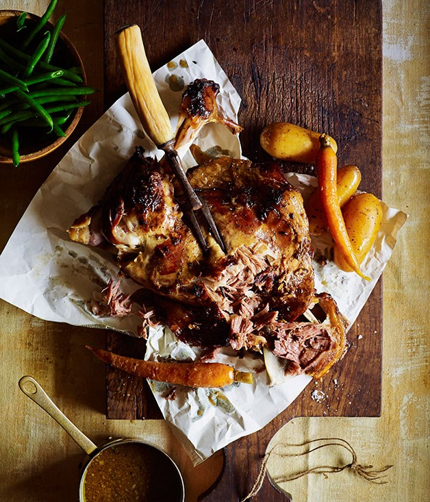 Moroccan lamb with honey