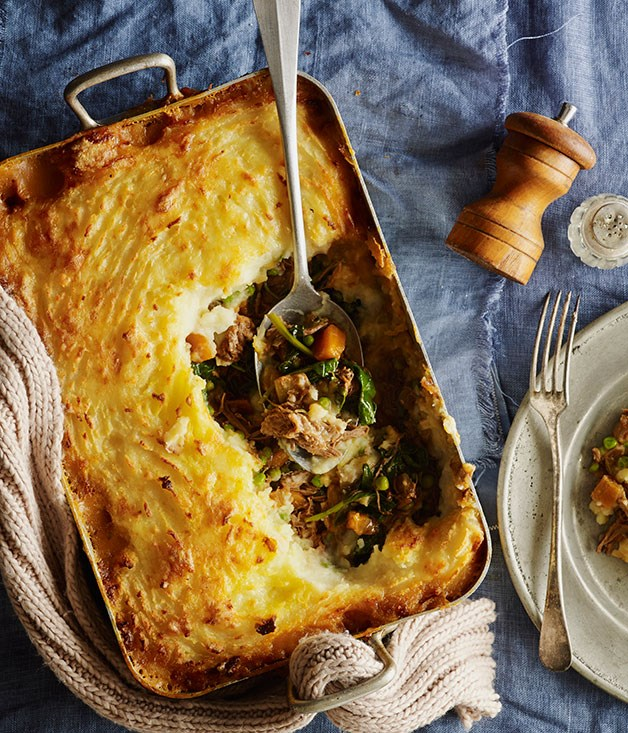 "**[Shepherd's pie](https://www.gourmettraveller.com.au/recipes/browse-all/shepherds-pie-12003|target=""_blank"")**"