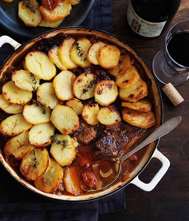 **Lamb and potato hotpot**