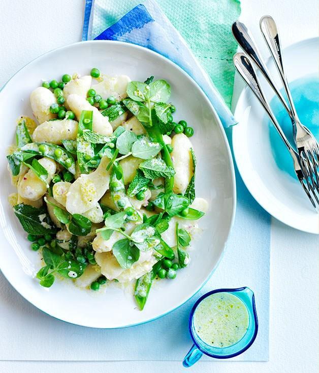 **Minty potato and pea salad**