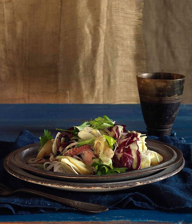 **Potato and braised octopus salad**