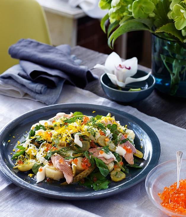 **Potato salad with smoked trout**