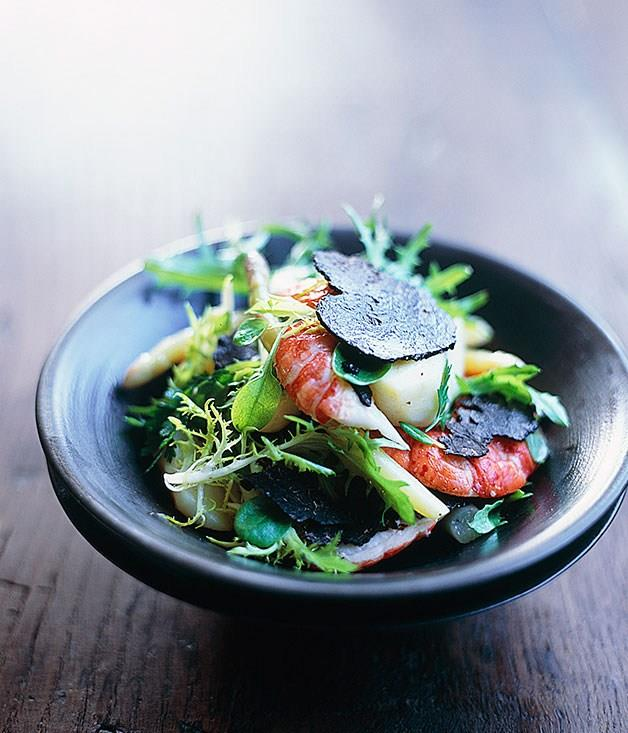 **[Marron, truffle and asparagus salad](https://www.gourmettraveller.com.au/recipes/browse-all/marron-truffle-and-asparagus-salad-9706)**