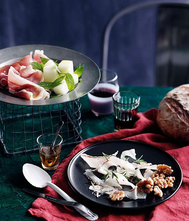 **[Lardo, truffle honey and walnuts](https://www.gourmettraveller.com.au/recipes/browse-all/lardo-truffle-honey-and-walnuts-10509)**