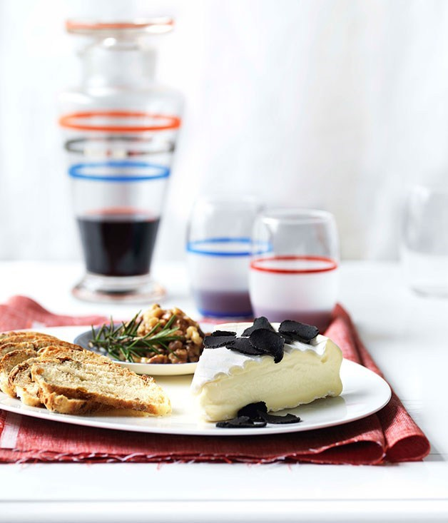**[Triple-cream cheese with Australian truffles, honeyed walnuts and fruit bread](https://www.gourmettraveller.com.au/recipes/chefs-recipes/triple-cream-cheese-with-australian-truffles-honeyed-walnuts-and-fruit-bread-7254)**