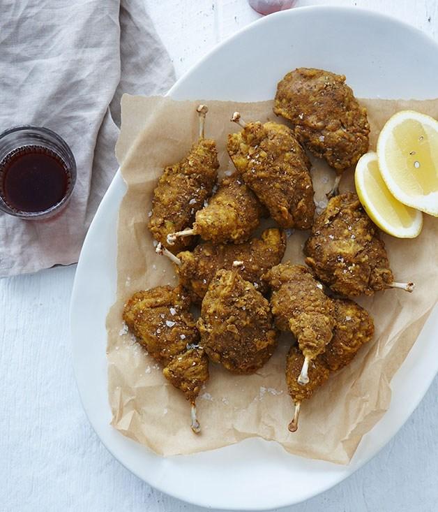 **Golden spiced quail Kiev**