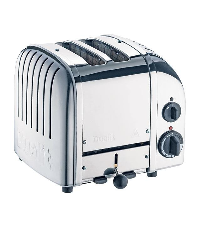 """**The Original Dualit toaster** """"Dualit has brought out a rainbow of colours and finishes in its signature toaster, but the original polished chrome finish is still my favourite - I love the industrial look and the stainless steel will age nicely over time."""" Two-slice toaster, $375, from [Peters of Kensington](http://www.petersofkensington.com.au """"Peters of Kensington"""")."""