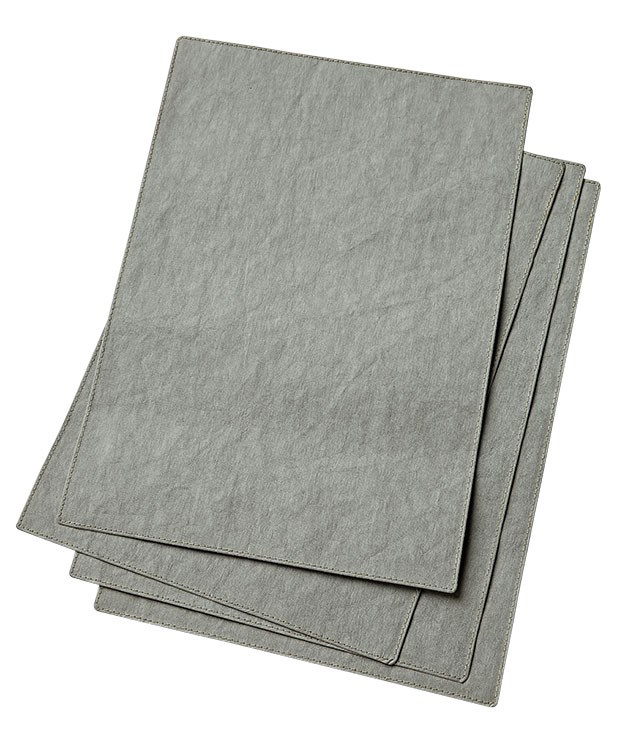 "**Uashmama grey paper placemats** ""They're a beautiful soft grey and I fall for everything that's grey and made from paper. Yep, these Italian paper placemats are perfect for my table."" [Uashmama](http://www.uashmama.com.au ""Uashmama"") paper placemats, $12.50 each."