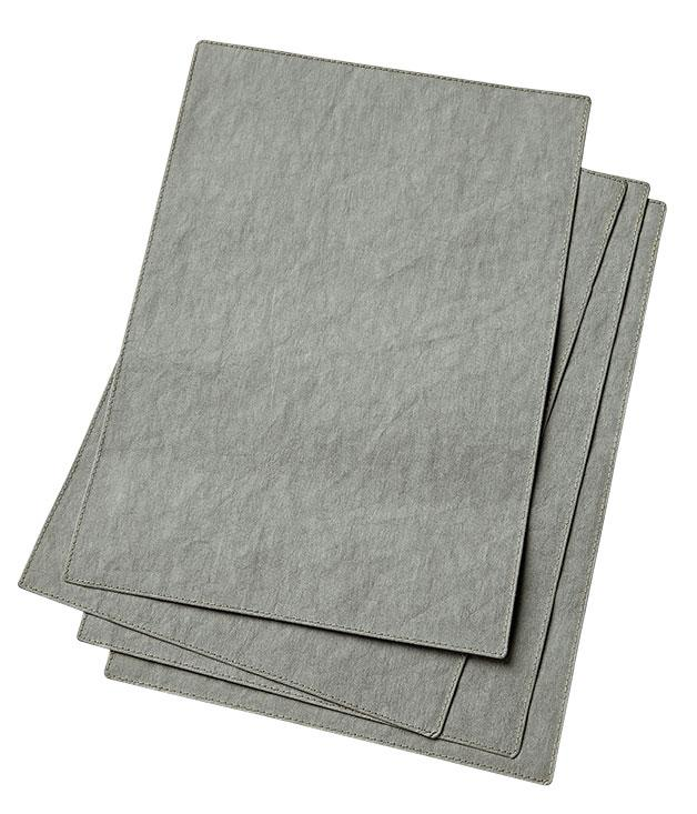 """**Uashmama grey paper placemats** """"They're a beautiful soft grey and I fall for everything that's grey and made from paper. Yep, these Italian paper placemats are perfect for my table."""" [Uashmama](http://www.uashmama.com.au """"Uashmama"""") paper placemats, $12.50 each."""