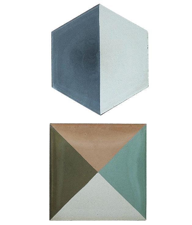 """**Tiles as trivets** """"One day I'll cover my floors and walls with these beautiful tiles, but for now I'm happy using them singularly as trivets on my table."""" Popham handmade tiles $310 per square metre from [Onsite](http://www.onsitesd.com.au """"Onsite"""")."""