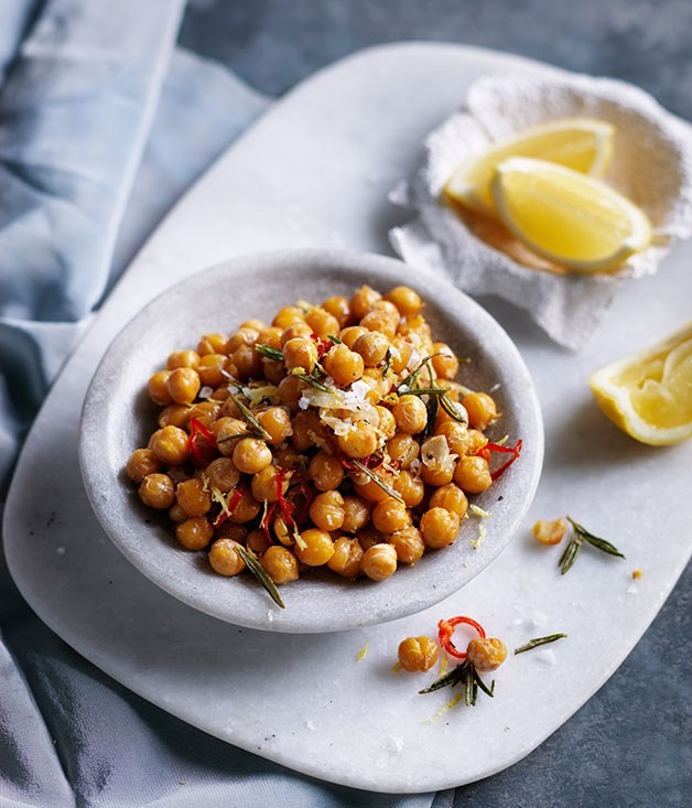 **Fried chickpeas with lemon, rosemary and parmesan**