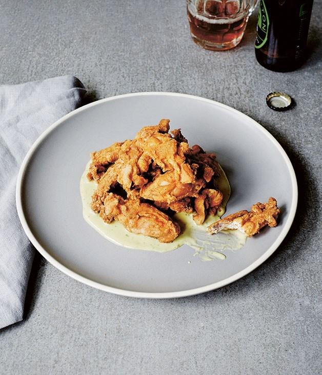 **Southern fried chicken ribs & jalapeño mayo**