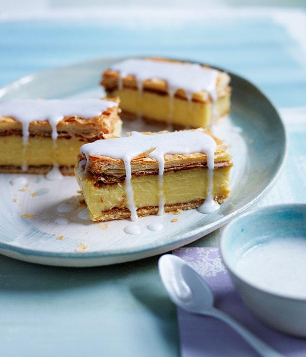 "**[Vanilla slice](https://www.gourmettraveller.com.au/recipes/browse-all/vanilla-slice-12007|target=""_blank"")**"