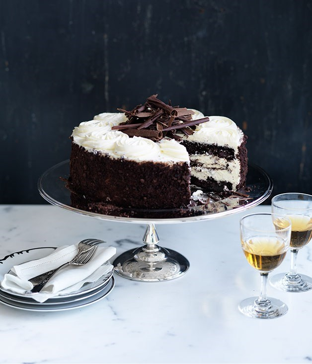 "**[Black Forest cake](https://www.gourmettraveller.com.au/recipes/browse-all/black-forest-cake-14198|target=""_blank"")**"